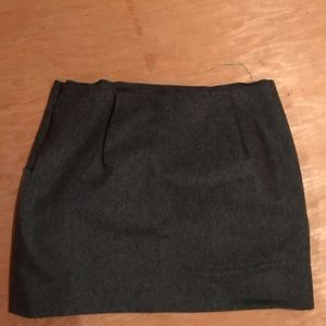 J crew black wool skirt